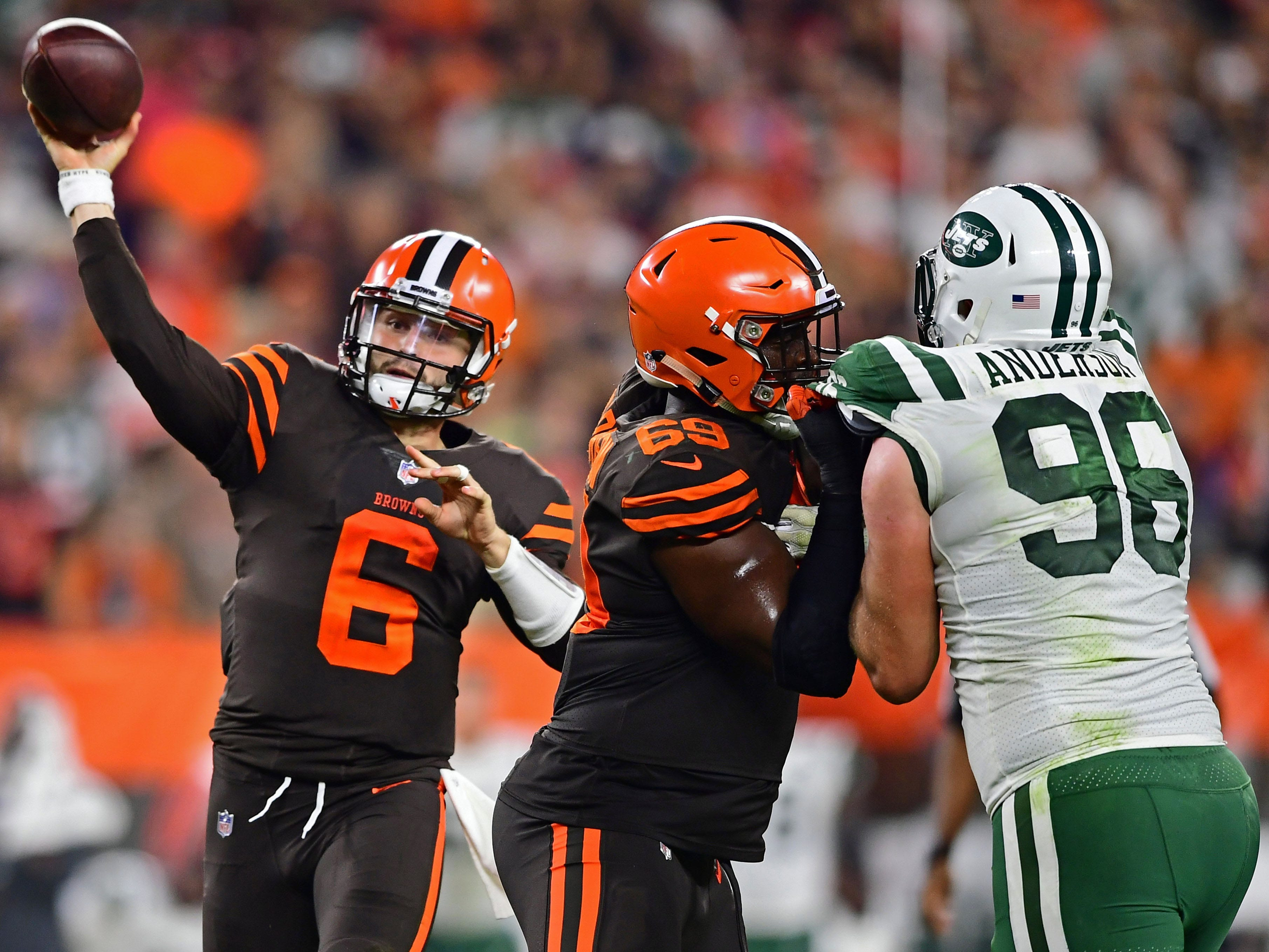 13. Browns (22): On pace for 59 takeaways, plus-48 TO differential, 14-0 record in games Baker Mayfield plays ... and, hence, first playoffs since '02.