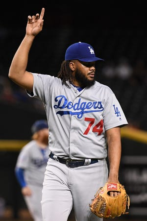 Kenley Jansen has 37 saves, second most in the NL this season.