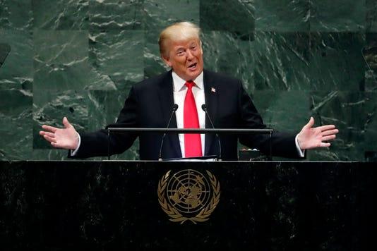 Ap Aptopix Trump United Nations I Xun