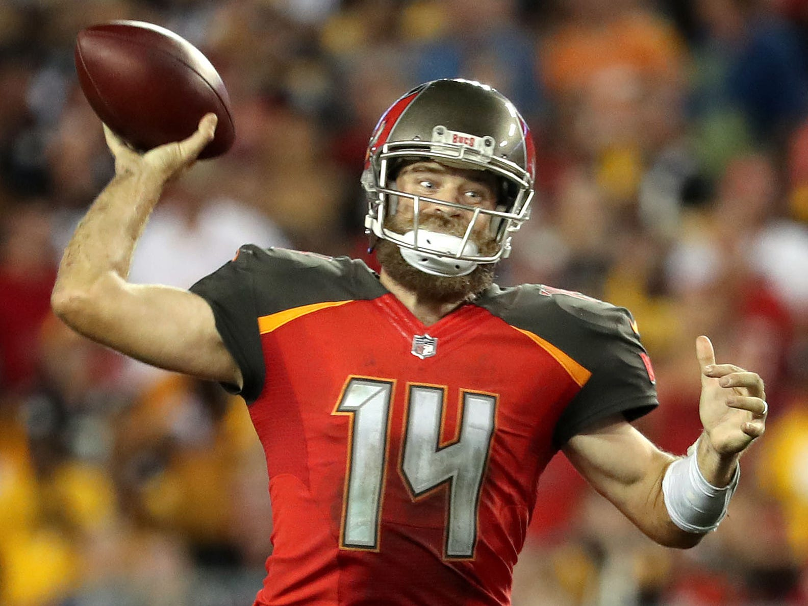 6. Buccaneers (6): Fitzmagic averaging 410 aerial yards per week, putting him on pace for 6,560 ... which would be more than 1,000 better than Peyton Manning's single-season record (5,477).