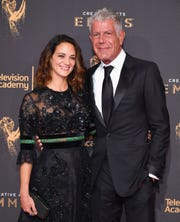 "Asia Argento and Anthony Bourdain met on the set of his show, ""Parts Unknown,"" in 2016."