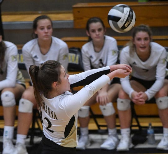 TL Hanna senior Maddie Bryant, seen during a match in September, leads the Yellow Jackets deeper into the Region 1-AAAAA playoffs.