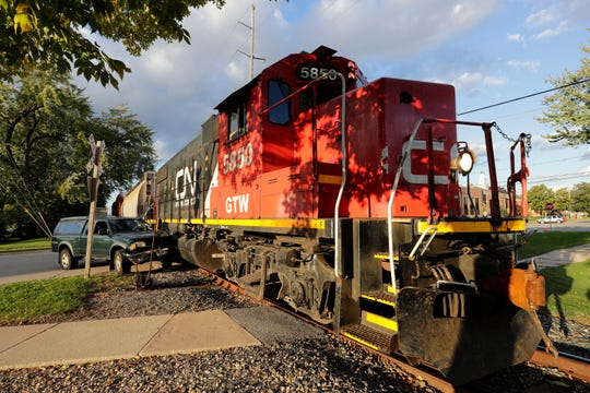 A truck and Canadian National train collided Wednesday afternoon in Menasha.
