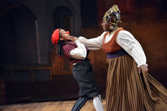 "A scene from ""A Little Shakespeare: The Comedy of Errors"" at Two River Theater in Red Bank."