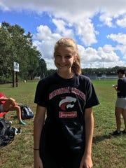 Jackson Memorial's Jessica Wanzor takes a break from practice on Sep. 26, 2018