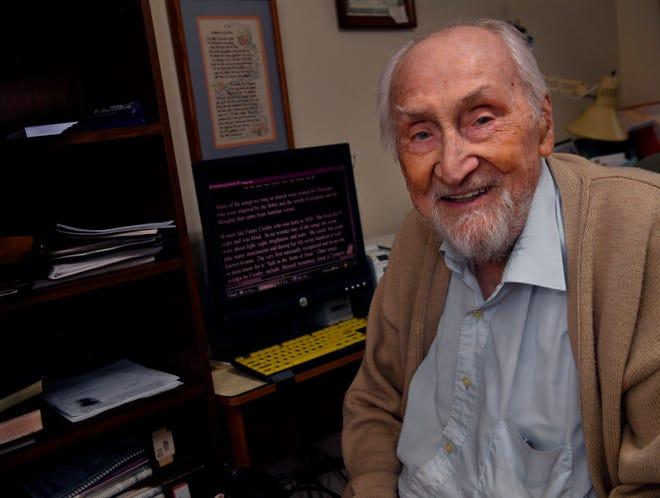 Lloyd Boyll sits at his computer Sept. 22.