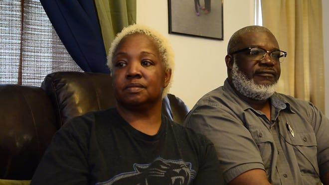 Charlotte Tolbert and Eddie Tolbert, grandparents of Derek LaQuinn Lee Jr., fatally shot in July.