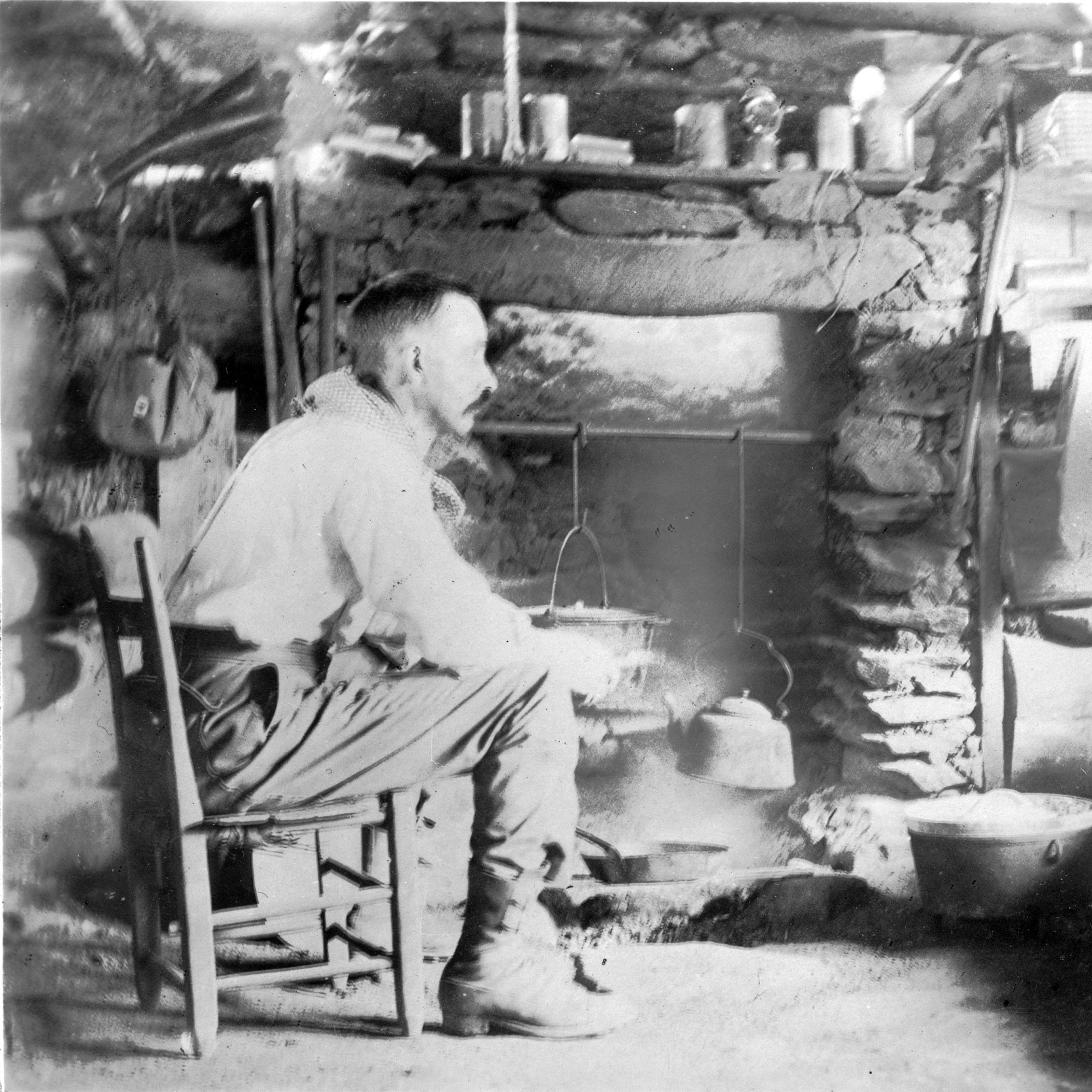 Portrait of the Past: Horace Kephart at Hall Cabin, 100 years ago