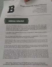 A letter provided to the BHS senior highlighting the charges against him.