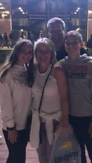 The Miller family, of Johnson City, attended the U.S. Open in September.