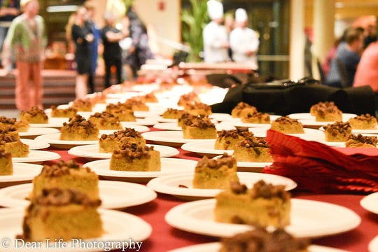 Pies are ready for the taking at the Kitsap Community Agricultural Alliance's 2017 harvest dinner.
