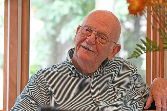 John Kennedy talks about his life as a husband, father, musician and banker Wednesday morning in his home. Kennedy was selected as the 2018 Outstanding Senior Citizen for Crawford County.