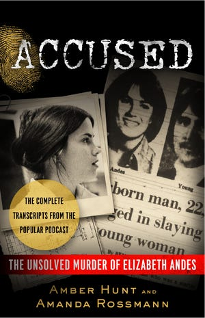 """The cover of the new """"Accused"""" book by Amber Hunt and Amanda Rossmann."""