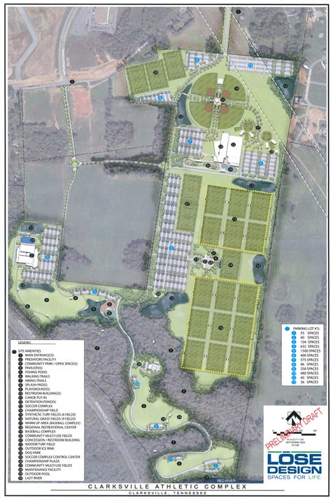Sports Complex Preliminary Site Plan