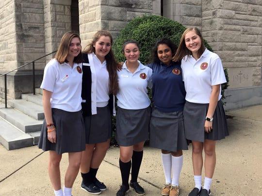 The National Merit commended scholars are: Shreya Karthikeyan of Somerset, Emma King of Berkeley Heights, Erica MacDonald of Westfield, Emily Metzger of Mendham, and Hope Zamora of Warren.