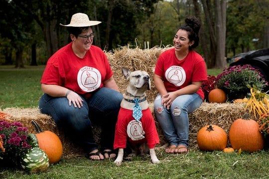Allison Vitali and Michelle Nobrega at the 2017 FOSRAS Heart & Sole 5K Run/Walk with Allison's dog, Tyson. Amajor fundraiser for the Somerset Regional Animal Shelter (SRAS), the annual FOSRAS Heart & Sole 5K Run/Walk will be held on Sunday, Oct.14 at Duke Island Park in Bridgewater.