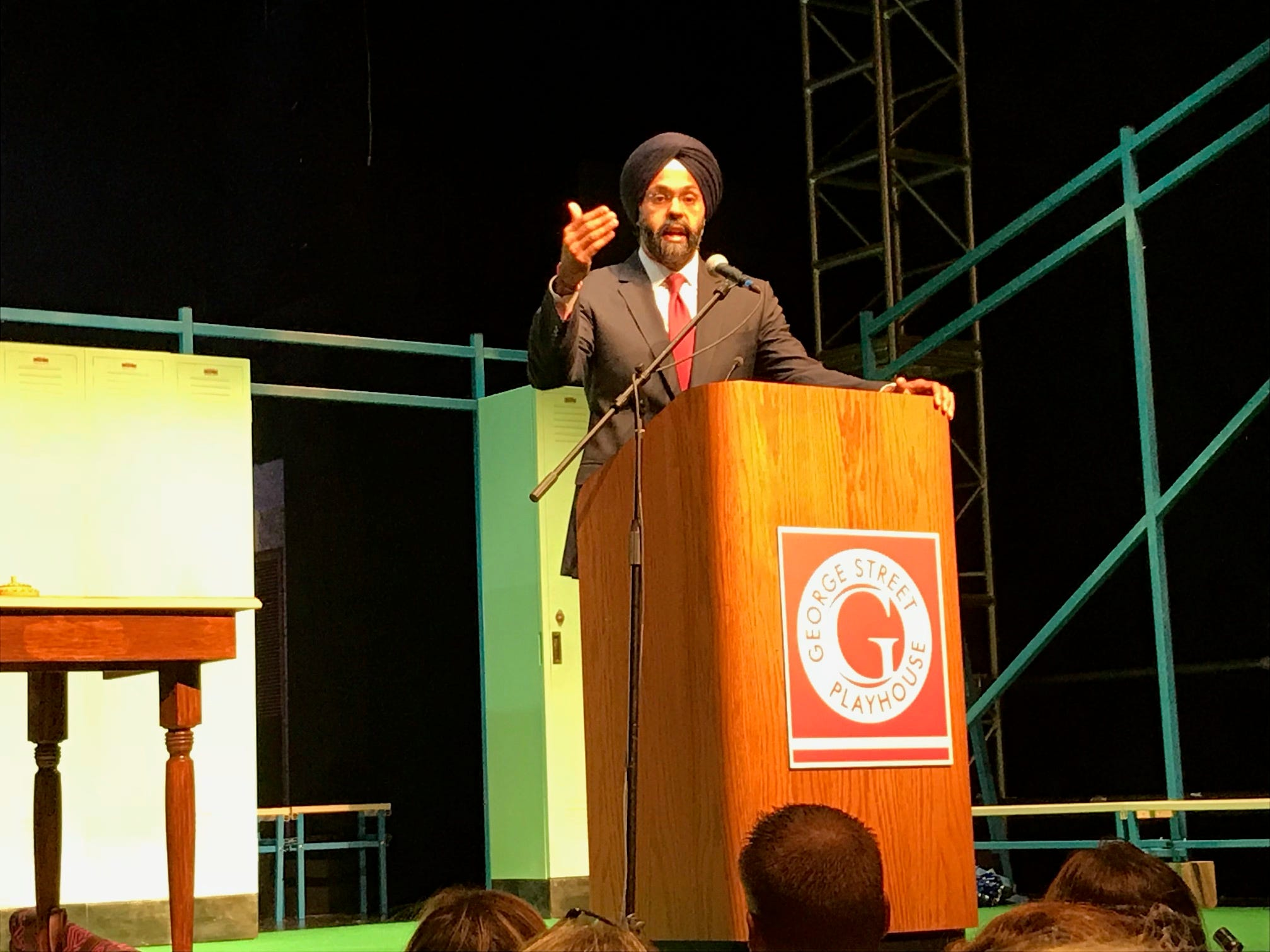 "State Attorney General Gurbir S. Grewal delivered the keynote address at the day-long Spotlight Conference on Opioid Abuse on Sept. 25 in which he unveiled new data on the opioid epidemic's impact on the state. Before a full house of educators, administrators and public health addiction professionals, George Street Playhouse in New Brunswick, who hosted the conference, premiered ""Anytown,"" their new original educational musical targeted at a middle and high school student audience."