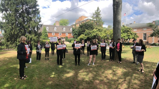 YWCA Princeton, along with other supporters, joined the National Walkout and Moment of Solidarity for Dr. Ford by observing a moment of silence at Palmer Square in Princeton.