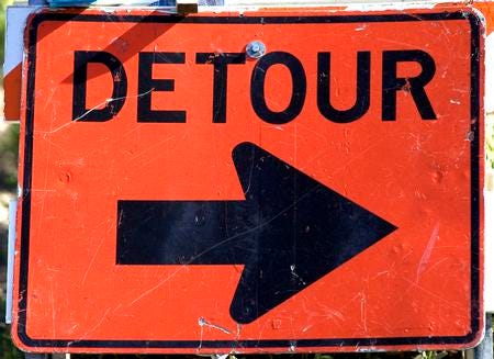 Detours will be in place starting at 7 p.m. today along Ryders Lane northbound in East Brunswick due to emergency road repairs.