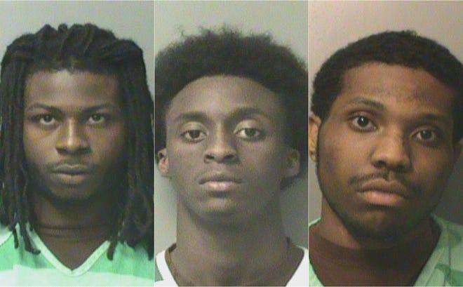 From left: Kenyatta Kevin Foster, Trisean Allen Graham, Raekwon Duprix Webb