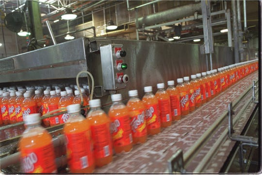 Faygo, the Detroit soda pop maker and bottler in October 8, 2002.