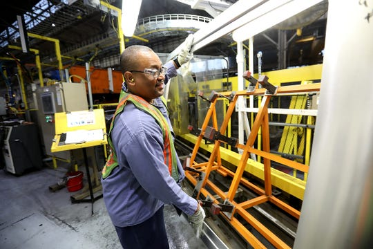 Palmer Coleman III, 49, of Farmington Hills works as a die setter at the Ford Rouge Plant in Dearborn, Mich. and is photographed on Tuesday, Sept. 25, 2018. The plant will be celebrating it's 100th anniversary.