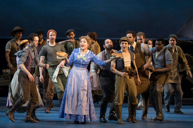 "Renee Fleming and the cast of the recent Broadway revival of ""Carousel."""