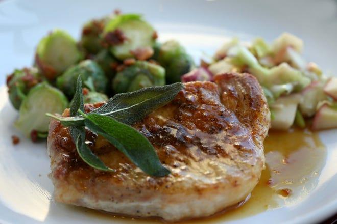 Skillet Pork with Crispy Sage and Sautéed Apples