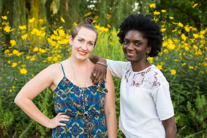 The co-founders of the Detroit Mama Hub, Alex Fluegel (left) and Jalyn Spencer-Harris.