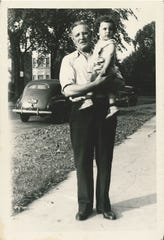 Harley Shaiken with his grandpa Philip Chapman in Detroit circa 1940. Shaiken, a professor at University of California, Berkeley is a national expert on labor and his grandfather worked for Ford.