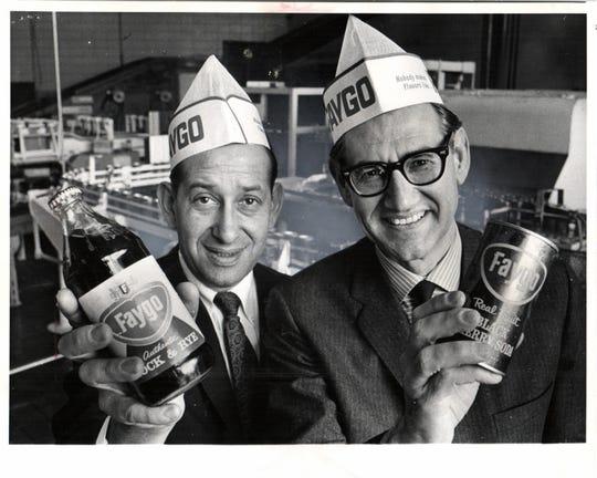 Cousins Morton Feigenson and Phillip Feigenson head up the Faygo Beverage Company in 1967