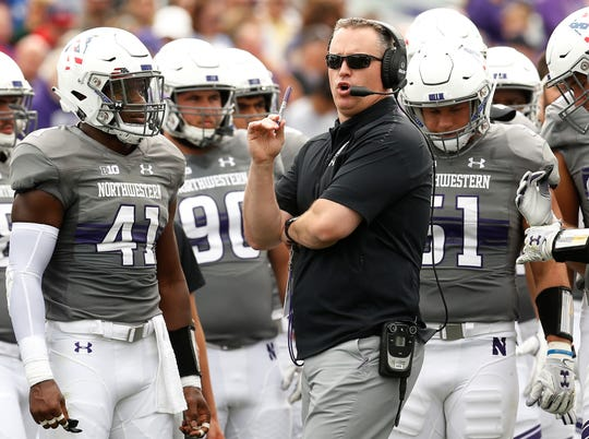 Pat Fitzgerald is in his 13th season as Northwestern's head football coach.