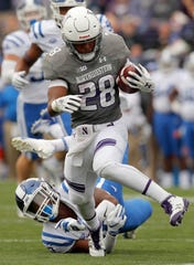 Northwestern running back Jeremy Larkin retired from football because of a recent diagnosis of cervical stenosis.