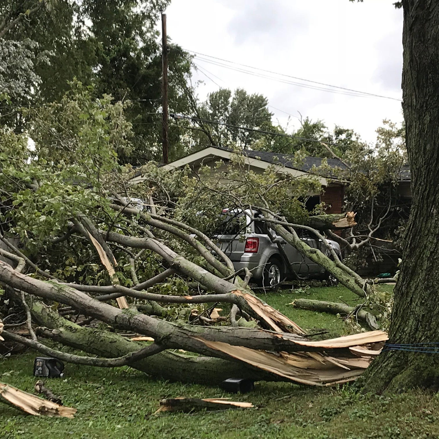 Damage in Monroe, Wayne counties from possible tornado touchdowns