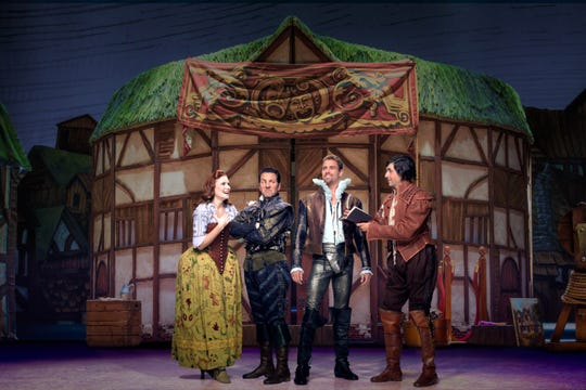 "Set in 1592, ""Something Rotten!"" plays the Fisher Theatre through Oct. 7."