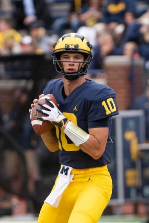 Backup quarterback Dylan McCaffrey has played in three of Michigan's first four games this season.