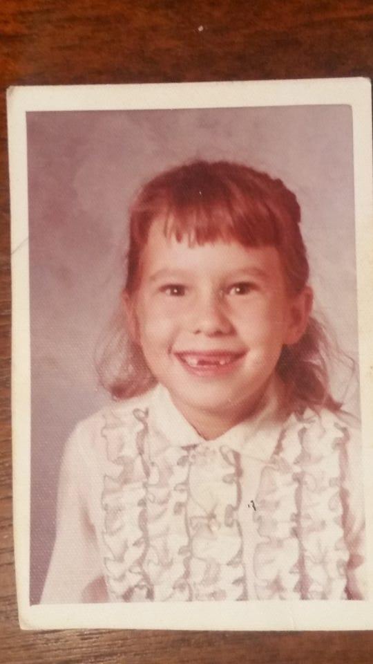 Debi Vinson's class photo at age 7