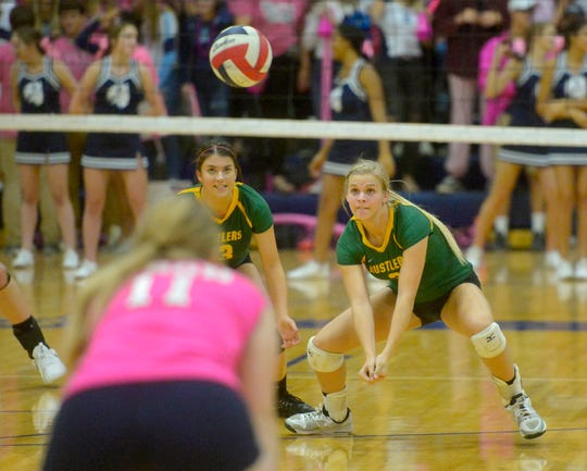 CMR's Ally Dube, left, and Teagan Taylor in action vs. Great Falls High earlier this season.
