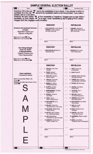 Sample ballot for general election.