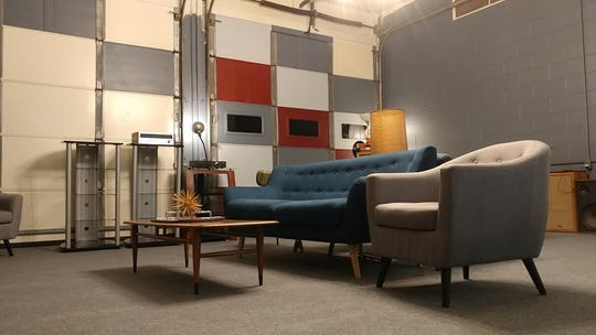 The new location of Getchell Amplifiers, which is opening in October in Brownsburg, features a retro vibe to match the shop's vintage stereo gear.
