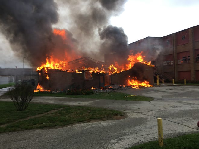 A fire damaged an auto body workshop at the Pendleton Correctional Center. There were no injuries, the Indiana Department of Correction said.