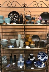 Pottery made in Japan is among goods sold at The Oriental Shoppe in Ridgeland.