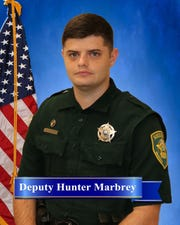"""Deputy Hunter Marbrey has been with MCSO since 2016. He received the """"Three Stars of Tennessee"""" award on Sept. 12 for his life-saving actions."""