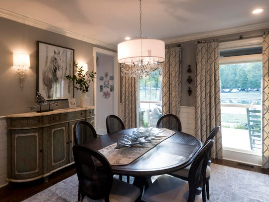 Decorating Den designed the dining room of Scott and Hope Davis' home which is being featured in Alzheimer's Tennessee's inaugural Designer Home & Garden Tour.