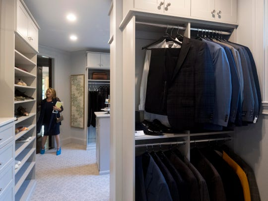 A large walk-in master closet was designed by Closets by McKenry for Scott and and Hope Davis' home, which is the feature home for Alzheimer's Tennessee's Designer Home & Garden Tour.