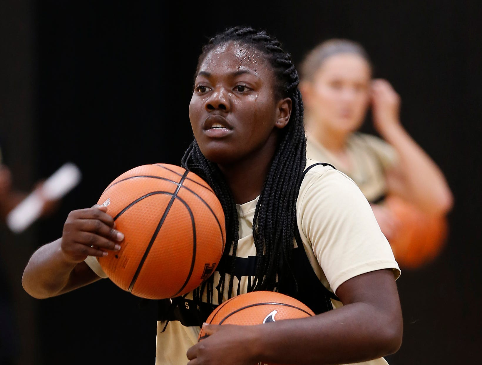 Ajah Stallings during Purdue women's basketball Wednesday, September 26, 2018, at Cardinal Court in Mackey Arena.