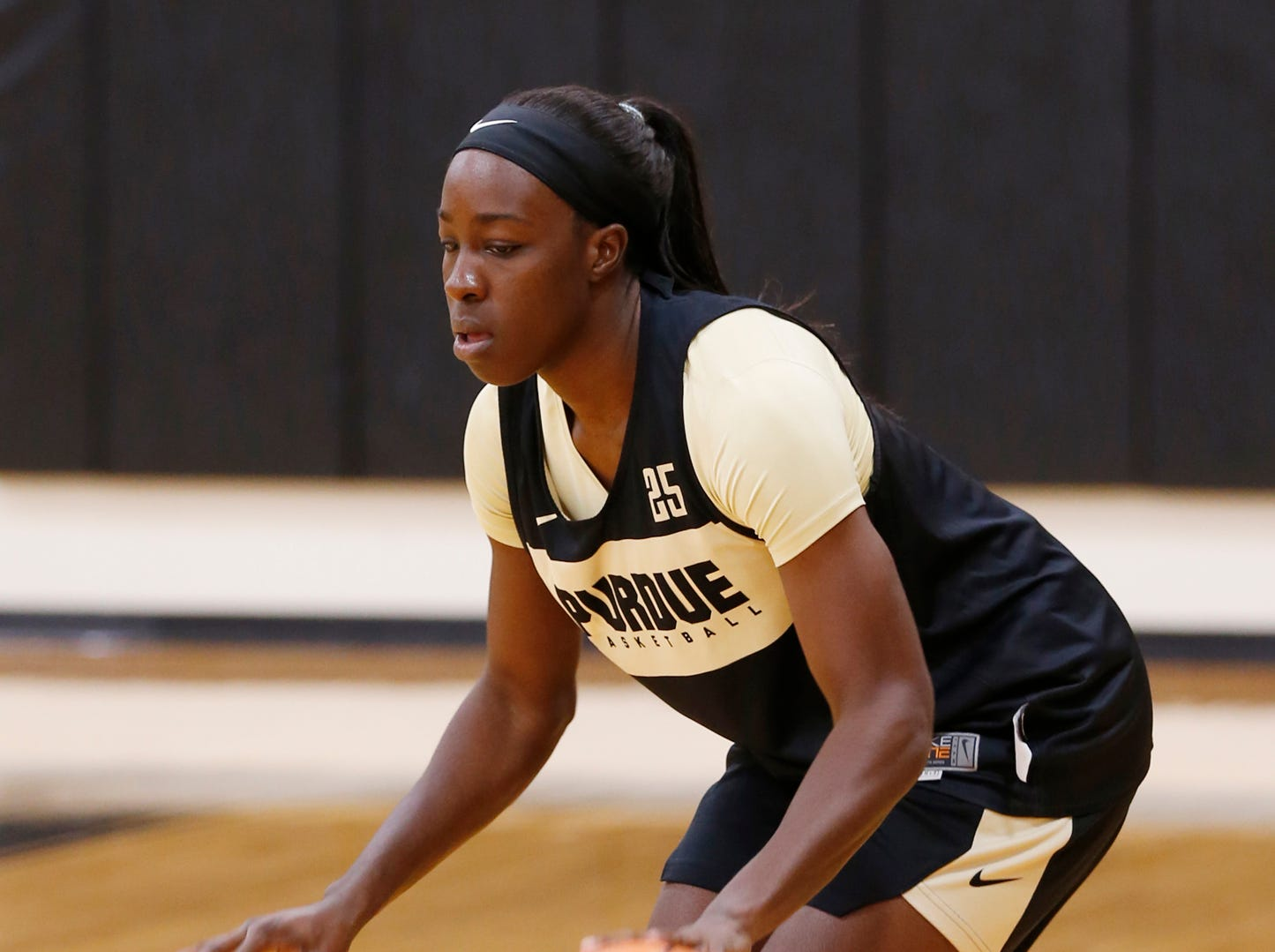 Tamara Farquhar in a dribbling drill during Purdue women's basketball Wednesday, September 26, 2018, at Cardinal Court in Mackey Arena.