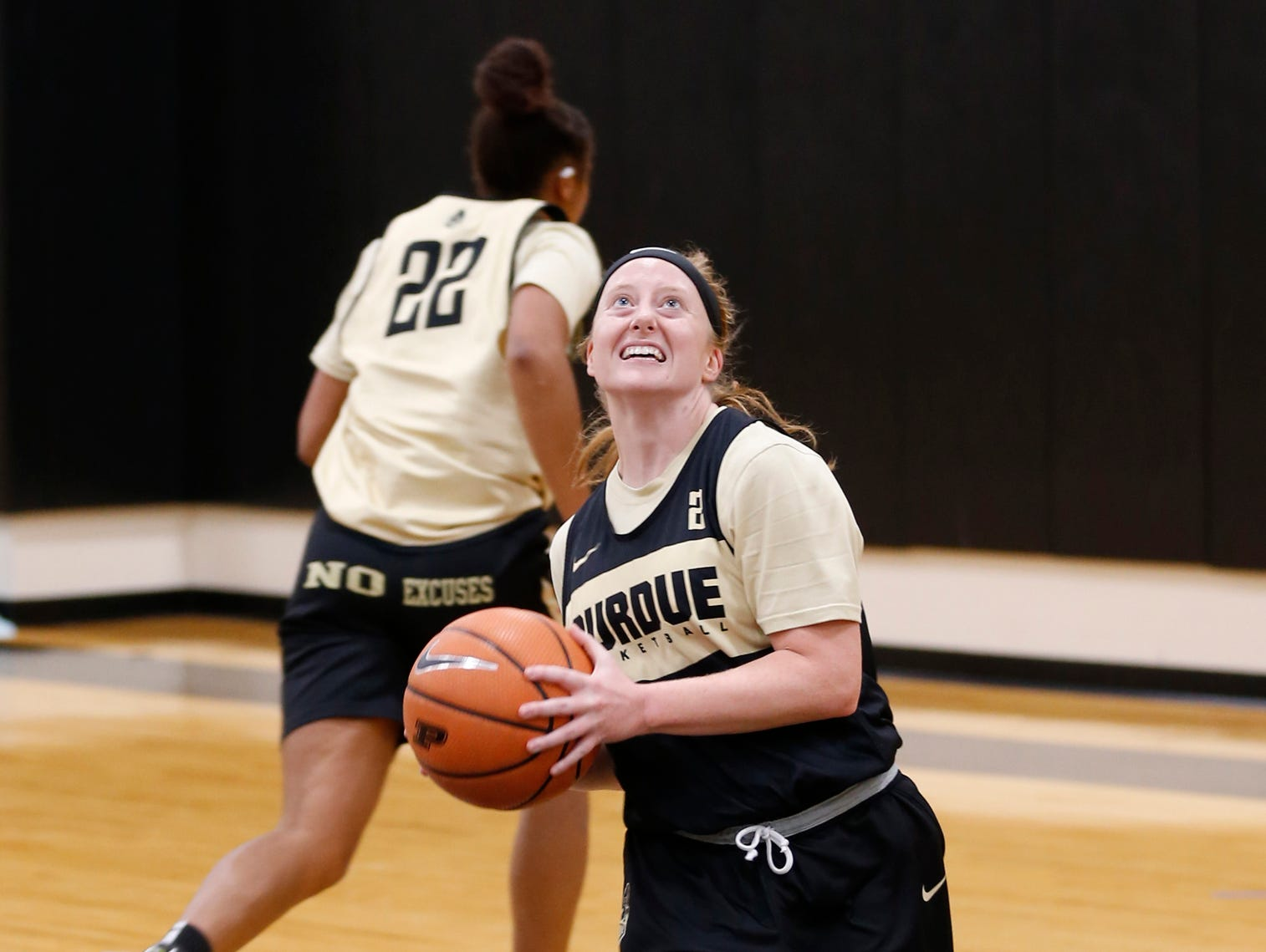 Abby Abel with a layup during Purdue women's basketball Wednesday, September 26, 2018, at Cardinal Court in Mackey Arena.