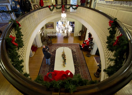 Christmas at the Haan Mansion Museum.