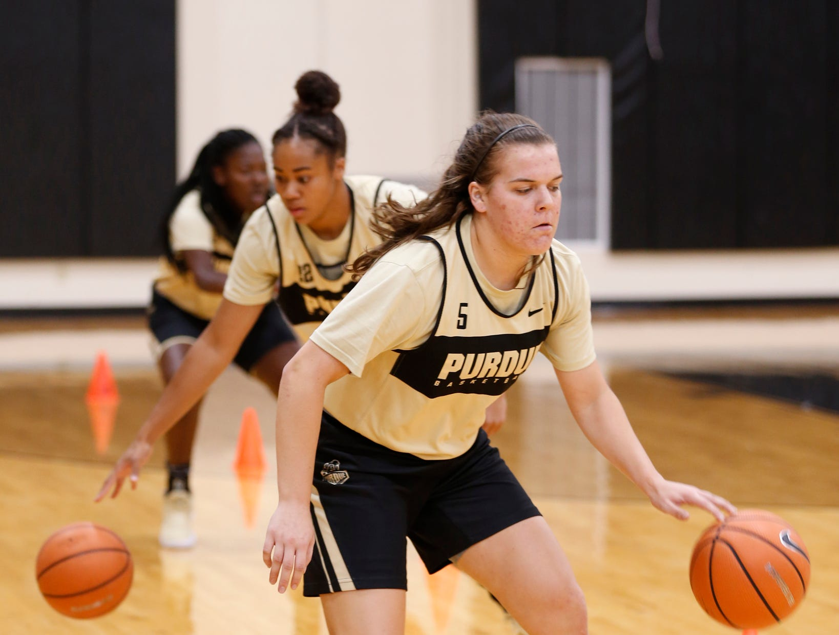 Cassidy Hardin during Purdue women's basketball practice Wednesday, September 26, 2018, at Cardinal Court in Mackey Arena.